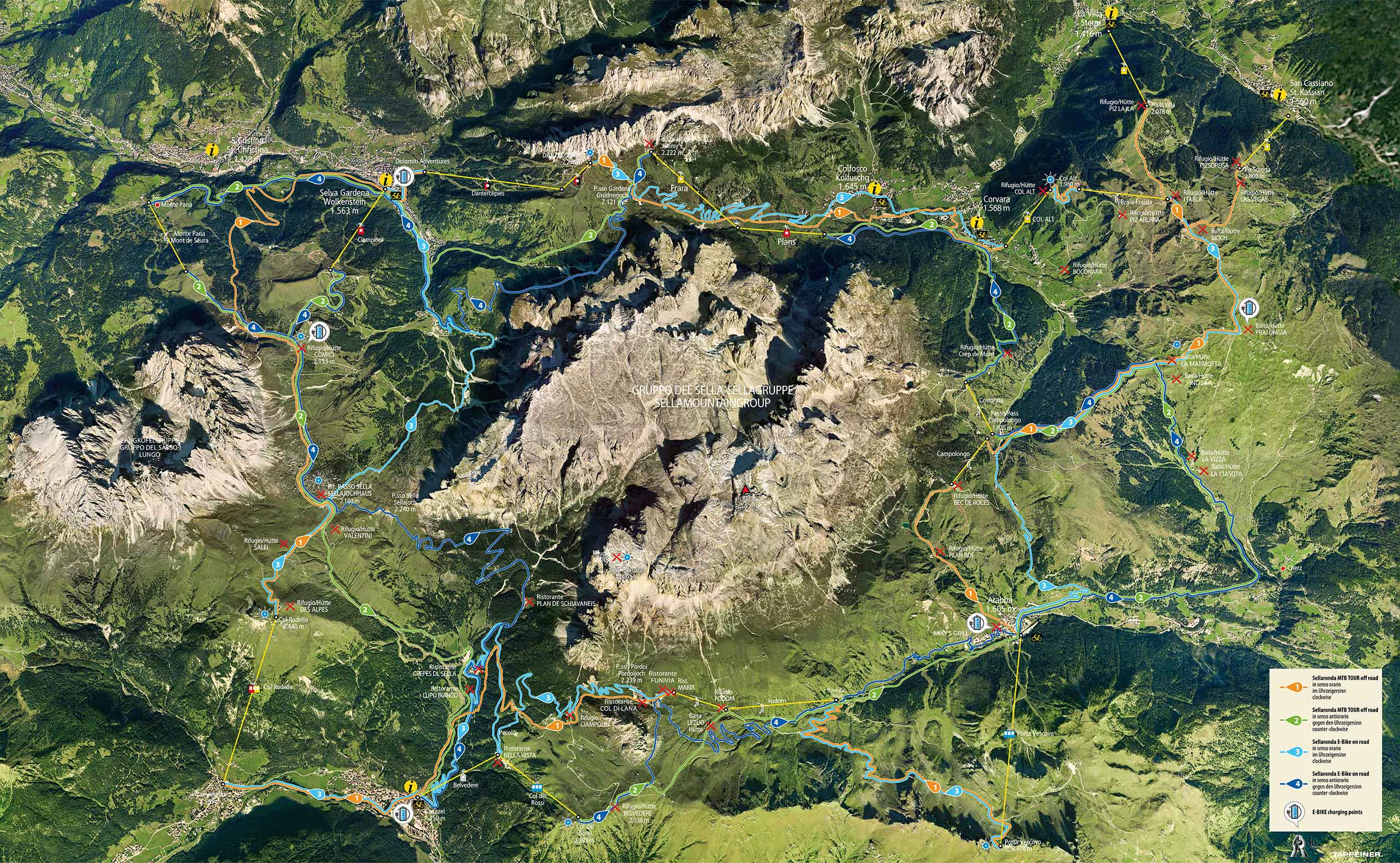 Mountain bike Mountain Chalet Merk holiday in Selva Val Gardena